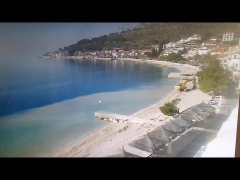 Chorvatsko - Podgora. Úprava pláže