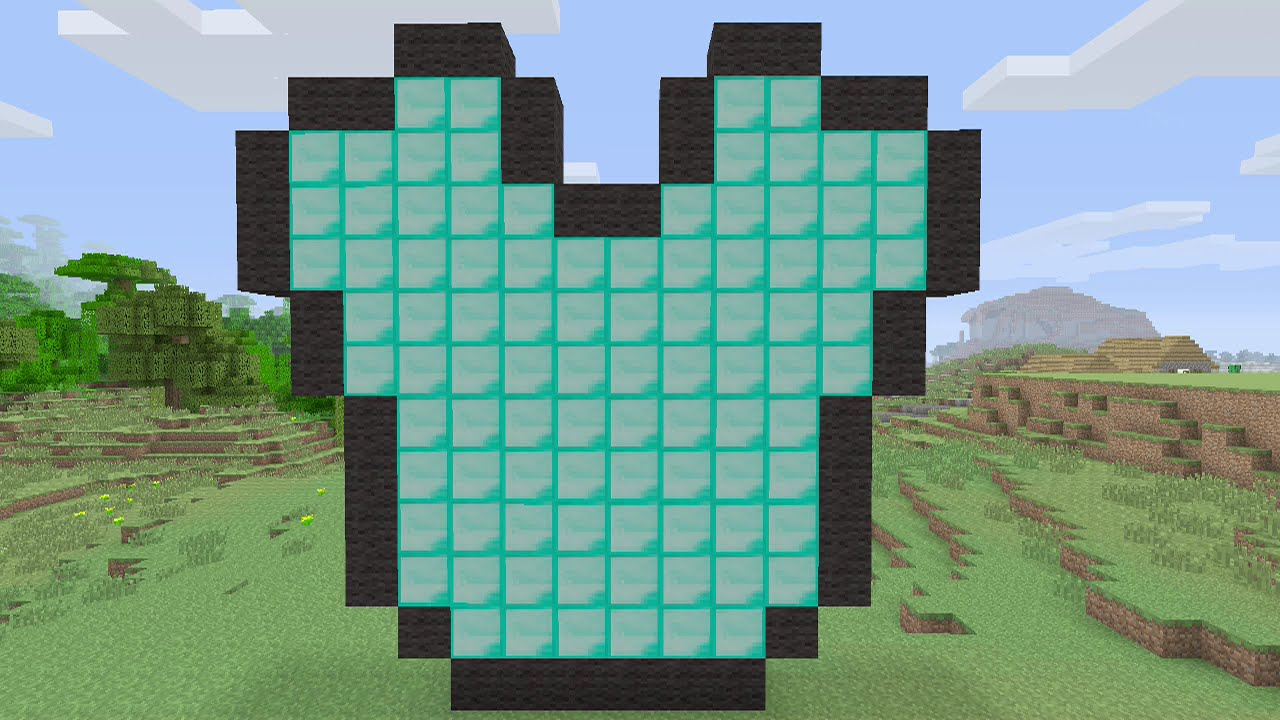 Minecraft Tutorials Diamond Chestplate Pixel Art