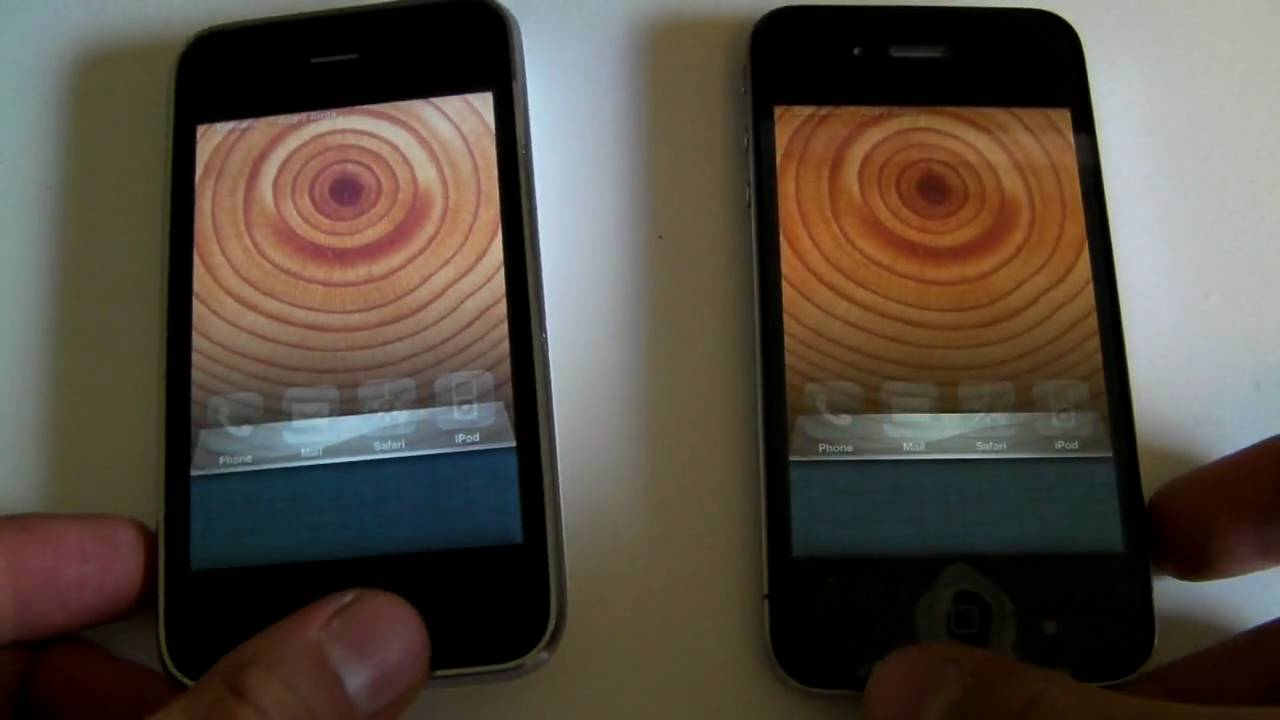 Iphone 4 Vs Iphone 3gs Speed And Hardware Comparison Youtube