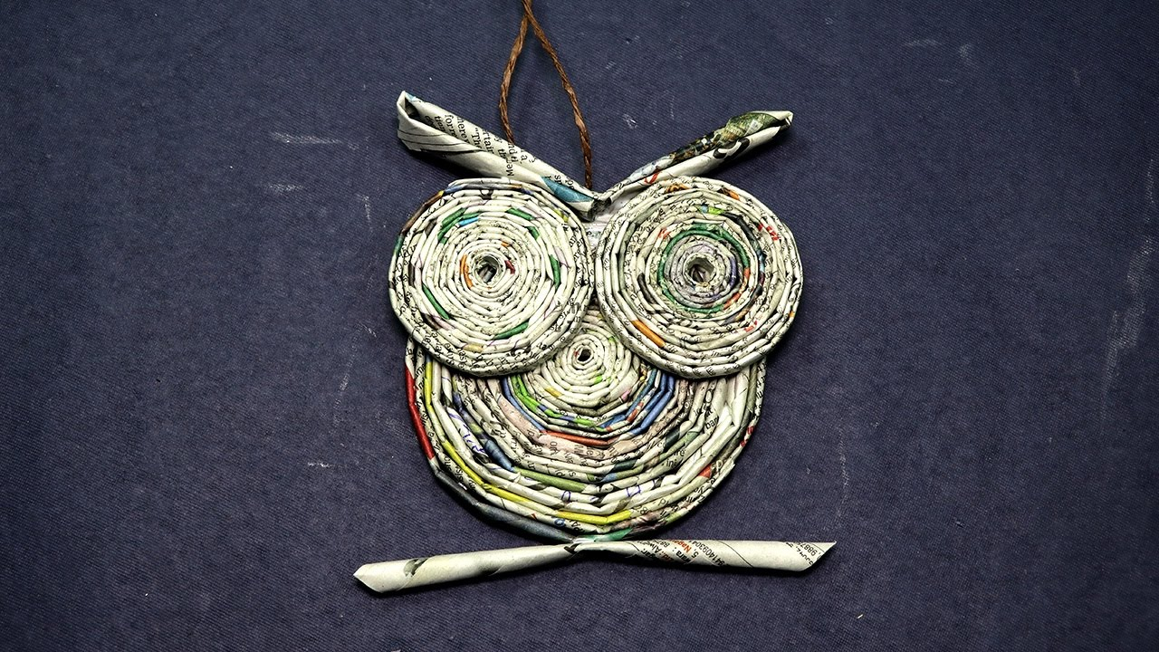 Newspaper Craft Ideas For Kids Part - 46: Paper Owl Craft- Owl From Rolled Newspaper Craft - YouTube