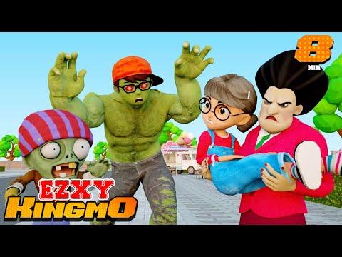 Scary Teacher 3D Zombie Infection Nick - Nickhulk Vs Zombie Defense Tani Love Story Family
