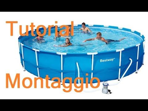 Montaggio piscina frame rettangolare bestway doovi - Montaggio piscina bestway ...