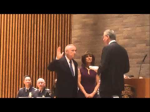 Bill Bratton Sworn In As NYPD Commissioner