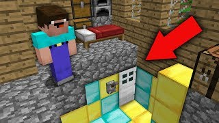 Minecraft NOOB vs PRO : WHAT IS UNDER THIS VILLAGER HOUSE? Challenge in Minecraft Animation