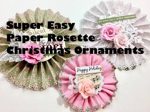 Live, DIY Christmas Ornaments & Decors/Super Easy Paper Rosette Ornaments