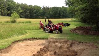 Small Fishing Pond Expansion Project - Step 9 - Help from a Friend & His Mahindra Tractor