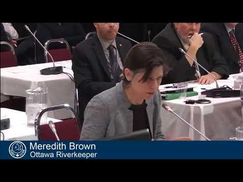 Meredith Brown, of Ottawa River Keeper presents at CNSC Hearing, Jan 24, 2018