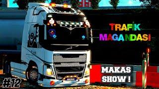 ⚠️ Trafik Magandası #12 ⚠️ Makas Show | Tehlikeli Hareketler | Euro Truck Simulator 2 Multiplayer