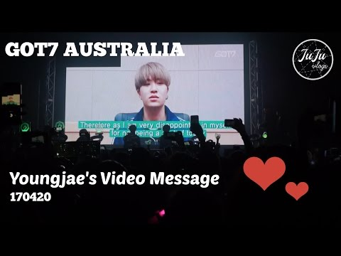 170420 GOT7 Member Intros & Youngjae's Video Message - Global Fanmeet in SYDNEY, AUSTRALIA