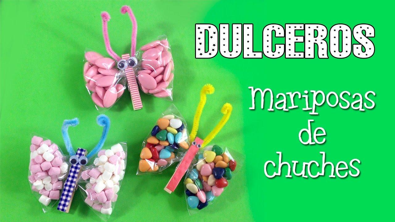Dulcero de mariposas   decoración para fiestas infantiles - YouTube