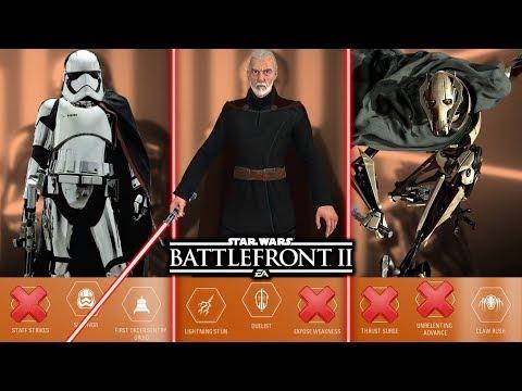 TOP 10 WORST VILLAIN ABILITIES 2019! Star Wars Battlefront 2