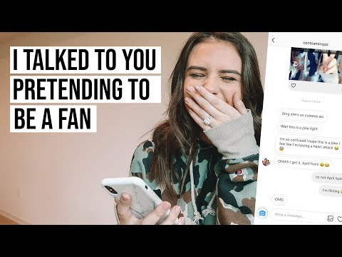 I MADE A FAKE FAN ACCOUNT + TALKED TO YOU GUYS... (fail)