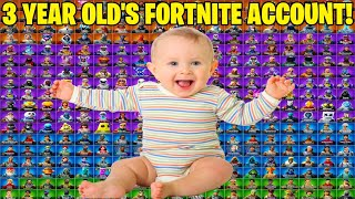 3 YEAR OLD GIVES ME HIS RARE EXCLUSIVE FORTNITE ACCOUNT... Here's What I Found! (Fortnite Lockers!)