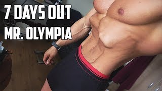 7 DAYS OUT MR O - Weighing Myself - Full Day of Eating - FINAL Preperations!