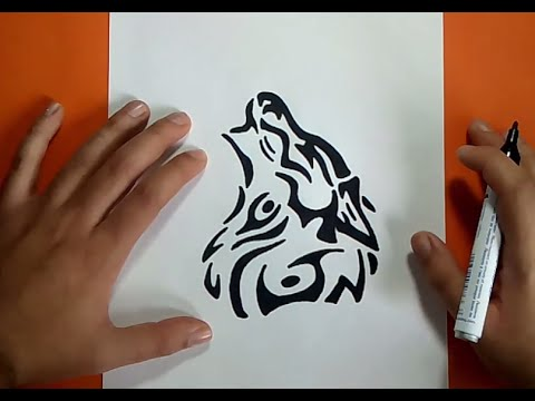 Como Dibujar Un Lobo Tribal Paso A Paso How To Draw A Tribal Wolf