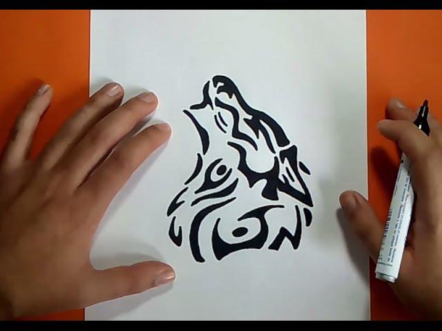 Como Dibujar Un Lobo Tribal Paso A Paso How To Draw A Tribal Wolf