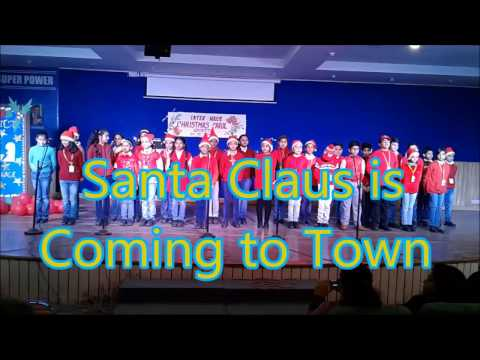Christmas Carol By A I S Choir -Santa Claus is Coming to Town