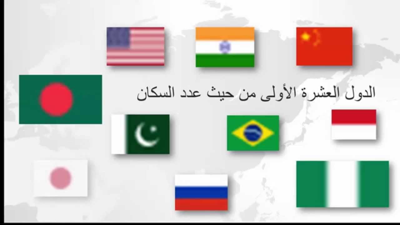 اكبر 10 دول من حيث عدد السكان فى العالم