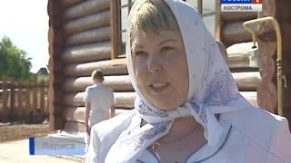 В храме в костромском посёлке Волжский прошла первая литургия