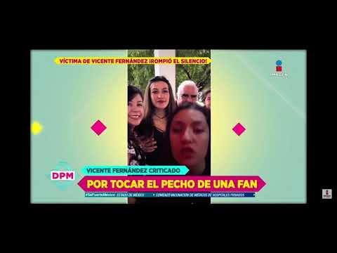 Víctima de acoso de Vicente Fernández reacciona al video donde aparece tocándola