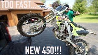 KIDS NEW 450 DIRT BIKE!!!!
