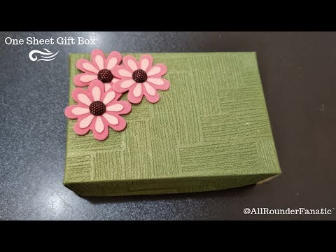 How to make a Gift Box with only one sheet of paper | Easy DIY Gift Box