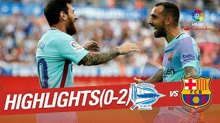 Two goals of leo messi in mendizorroza give to fc barcelona the second victory laliga this season matchday 02 santander 2017/2018, subscribe official channel hd ...