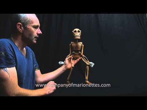 Dancing Wooden Skeleton Marionette