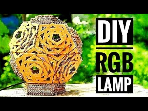DIY RGB Cardboard Hexagonal 3D Shaped Lamp | DIY | CARDBOARD | HOW TO KMA INSANE HACKER