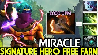 MIRACLE [Anti Mage] Picked Signature Hero Free Farming 1000 GPM 7.22 Dota 2