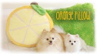Diy Kawaii Orange Fruit Slice Pillow - Sewing Tutorial & Sweetorials Audition