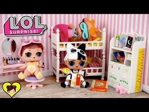 Bebes  LOL Surprise Confetti Pop Tienen una Pijamada -  Historias con Muñecas LOL