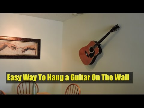 Easy Way To Hang a Guitar On The Wall-Decorative Purposes