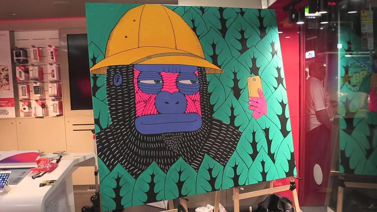 Mulga Paints at Virgin Mobile Store