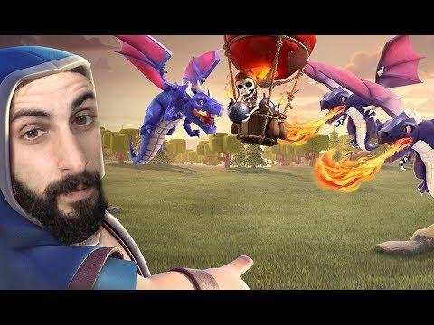 Clash Of Clans Greek~Dragon/Balloon Attack~By Bodrini