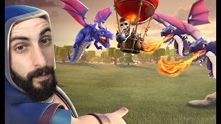 Clash Of Clans Greek~Dragon/Balloon Attack~By Bodrini