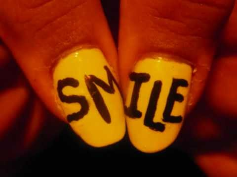 Smiley Bows nail tutorial