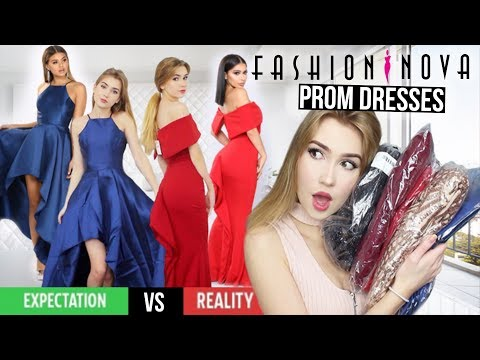 TRYING ON FASHION NOVA PROM DRESSES!! *Success*
