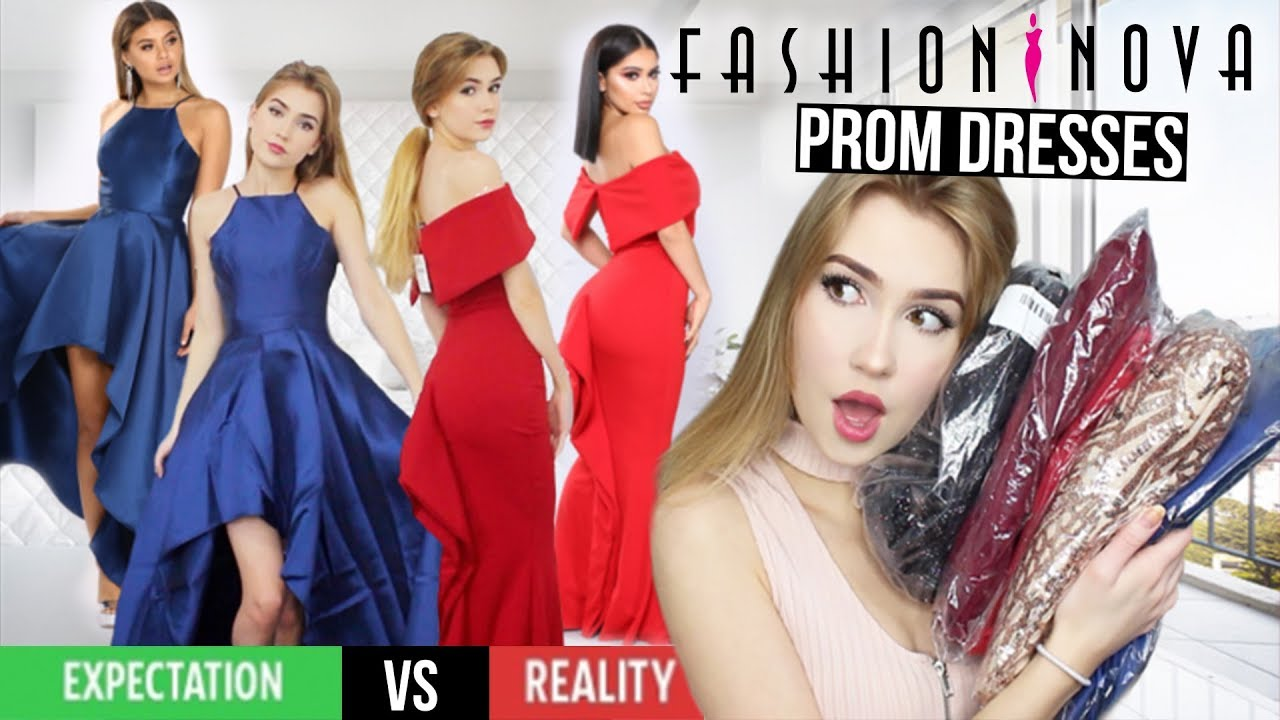 Trying On Fashion Nova Prom Dresses Success Youtube