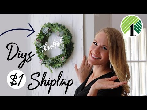 DOLLAR TREE FALL DIYS 💚 You HAVE to try this $1 Shiplap & Farmhouse Decor!