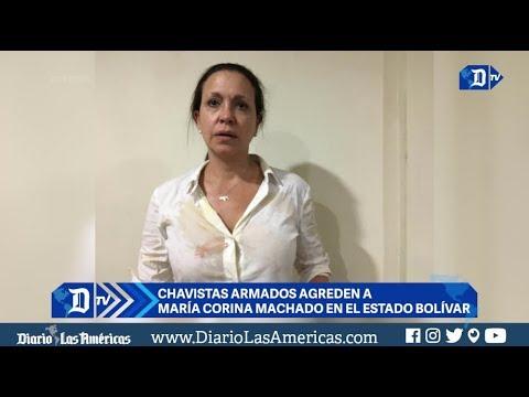 Chavistas armados agreden a María Corina Machado en el estado Bolívar