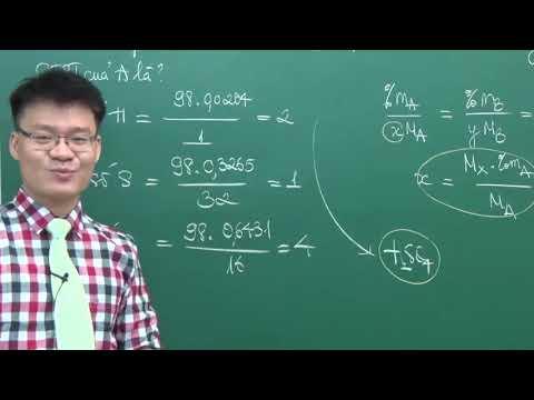 Xác định Công Thức Hóa Học Của Các Chất - Thầy Vũ Khắc Ngọc - Lớp 12 - Khóa Nền Tảng 2021