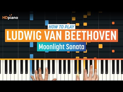 "How To Play ""Moonlight Sonata"" by Ludwig van Beethoven   HDpiano (Part 1) Piano Tutorial"