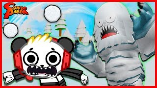 Roblox Snowball Fighting Simulator ESCAPE THE EVIL SNOWMAN Let's Play with Combo Panda