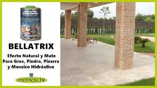 Bellatrix Natural - Protector antimanchas para piedra, pizarra, gres natural y mosaico hidráulico