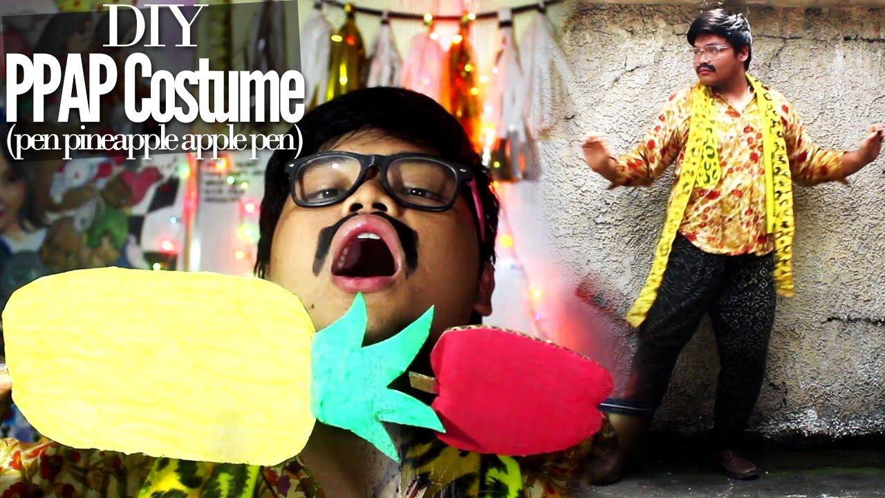 pen pineapple apple pen ppap diy costume for halloween pikotaro diy with zymon b youtube - Apple Halloween Costumes
