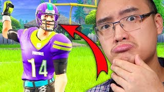 I'm REVEALED MY NFL'S FAVORITE TEAM WITH THE NEW SKIN - ON FORTNITE!