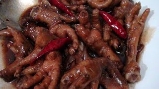 How to cook Chicken Feet Adobo  Adobong Paa ng Manok