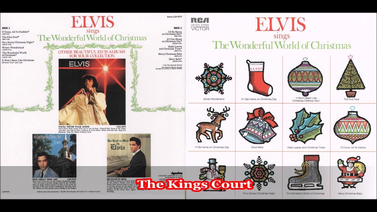 Elvis Presley - The Wonderful World Of Christmas - 1971 - Full Album ...