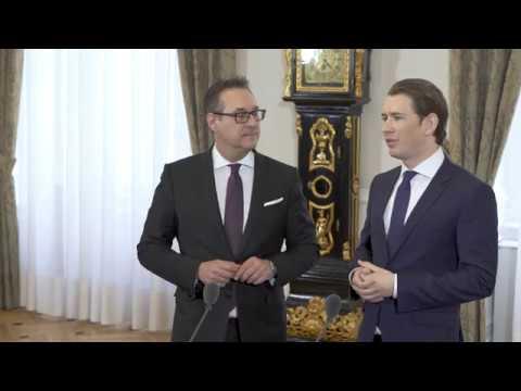 Pressekonferenz mit Bundeskanzler Sebastian Kurz und Vizekanzler Heinz-Christian Strache